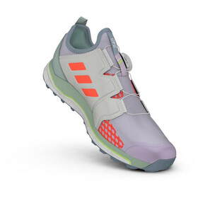 adidas TERREX Agravic Boa Zapatillas Trail Running Mujer, purple tint/signal coral/green tint